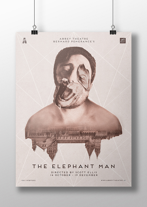 'The Elephant Man' Photo Composite Poster by Nicole O'Connor