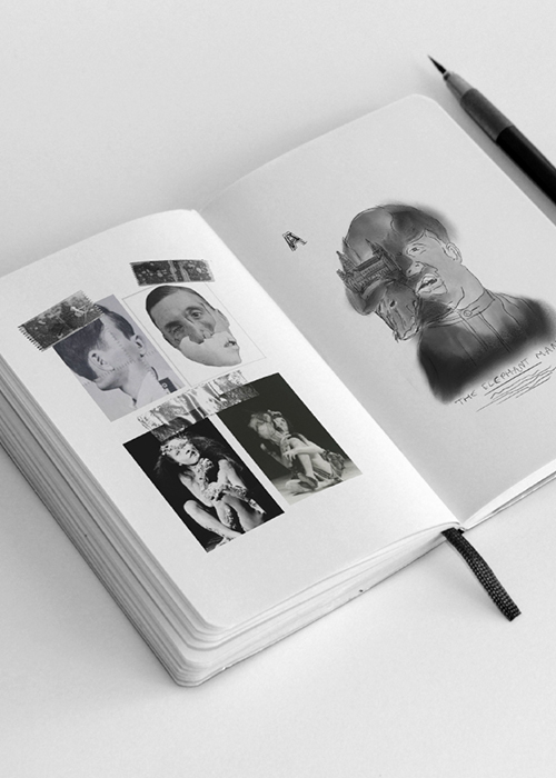 'The Elephant Man' Photo Composite Poster concept work in Notebook