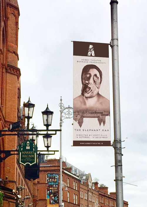 'The Elephant Man' Photo Composite banner on George's Street