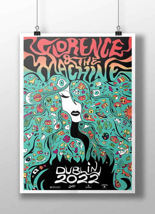 'Florence & the Machine' Vector Poster in template