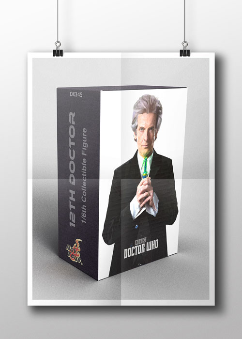 'Doctor Who' Digital Painting Applied to Packaging
