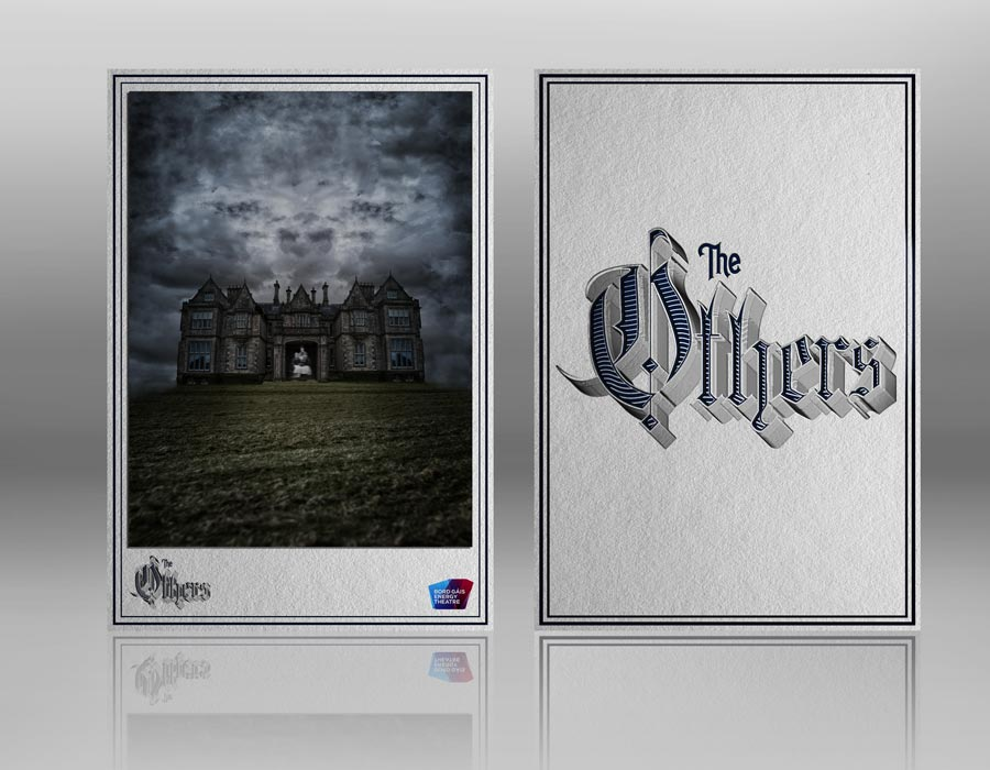 Ornate Victorian Type Design and composite for 'The Others' CDV style