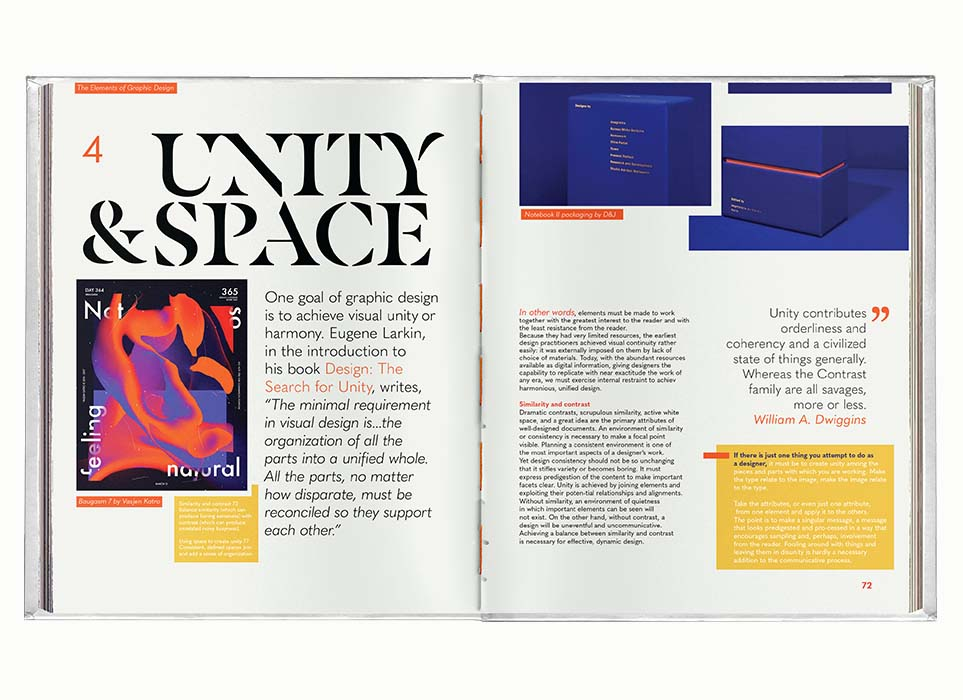 'Elements of Graphic Design' Editorial Design Double Page Spread