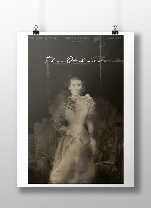 Photo Composite poster for 'The Others' image of a ghostly woman