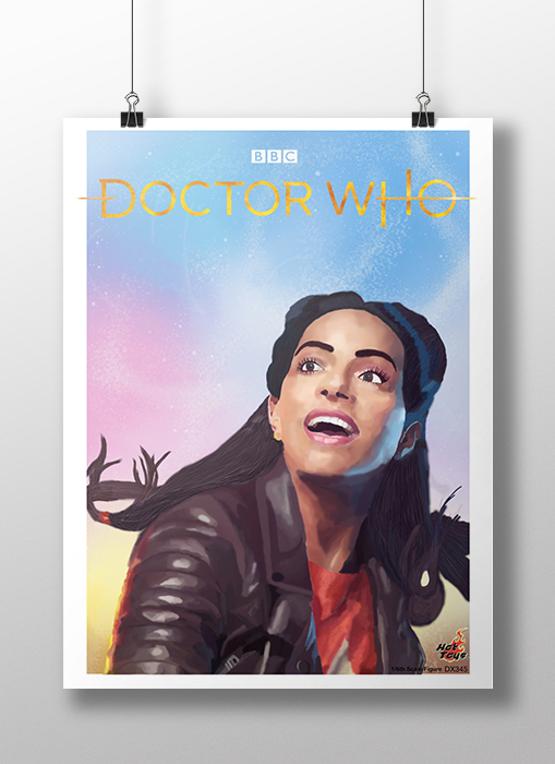 Digital painting poster for 'Doctor Who'