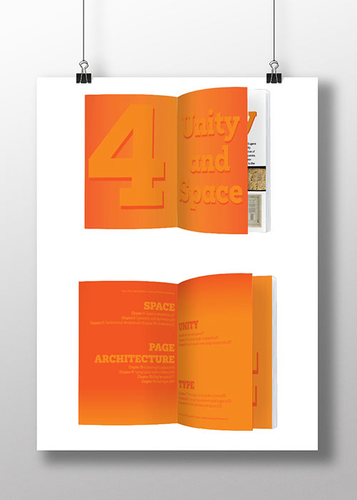 'The Elements of Graphic Design' Editorial Design double page spread custom font design