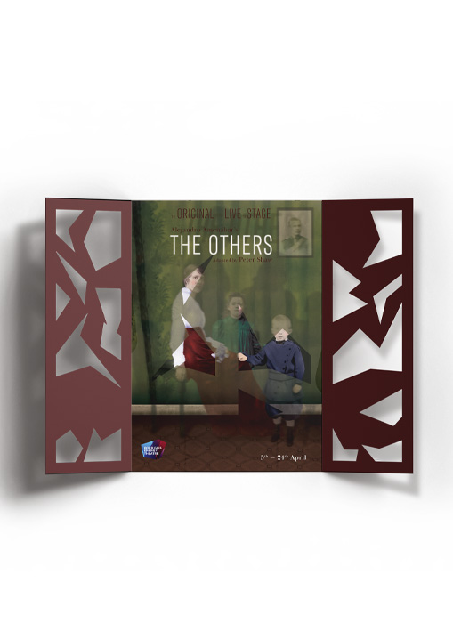 'The Others' Photo Composite Brochure with die cut image and traditional CDV imagery